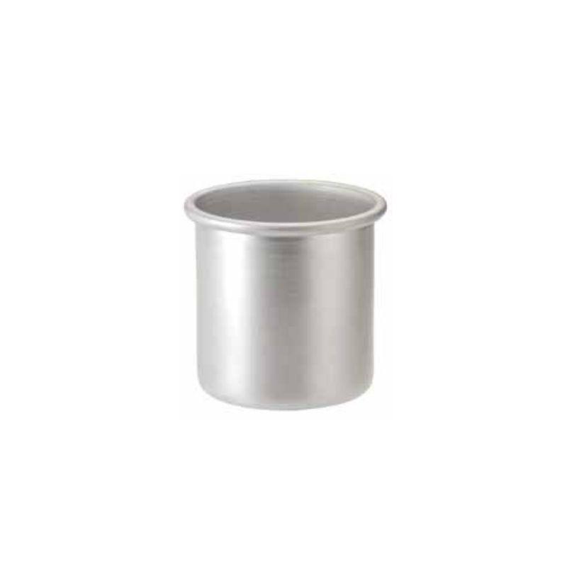Bicchiere cilindrico in alluminio con orlo