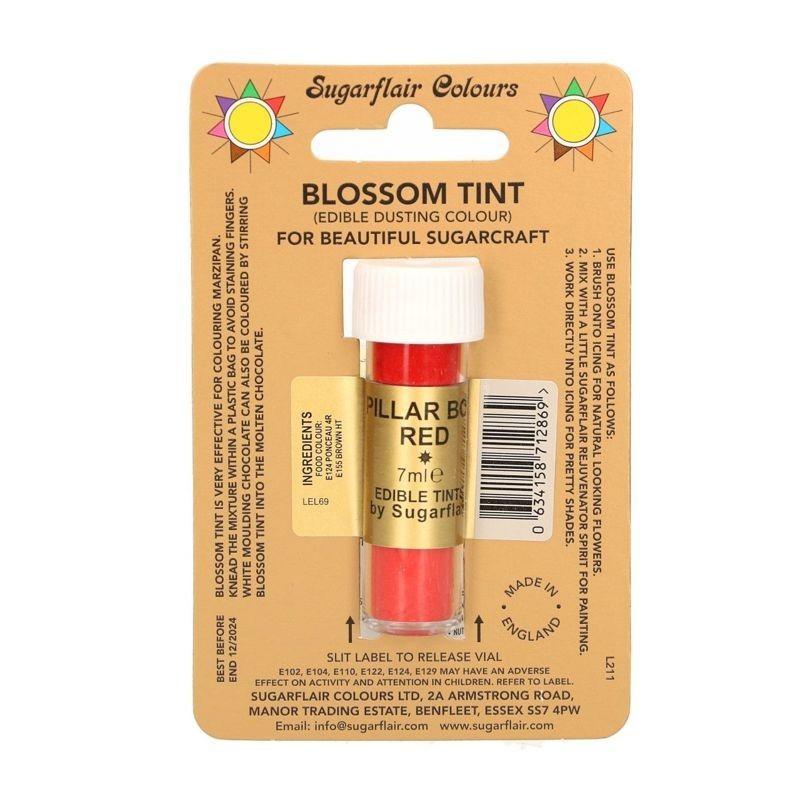 Red pillar box rosso vivo alimentare polvere