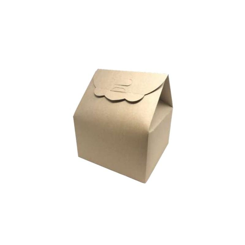 Scatola sac a main basso eco kraft cm 25x25 h cm 15