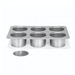 Teglia 6 monoporzioni cheesecake a ring