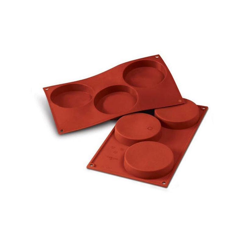 Cilindri bassi in silicone  ø cm 10 h 2 - 3 cavità