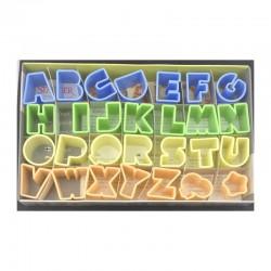 Alfabeto 27 pezzi mm 25 tagliapasta in plastica