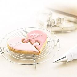 Cookie for two cm 13 cuore a puzzle tagliabiscotti