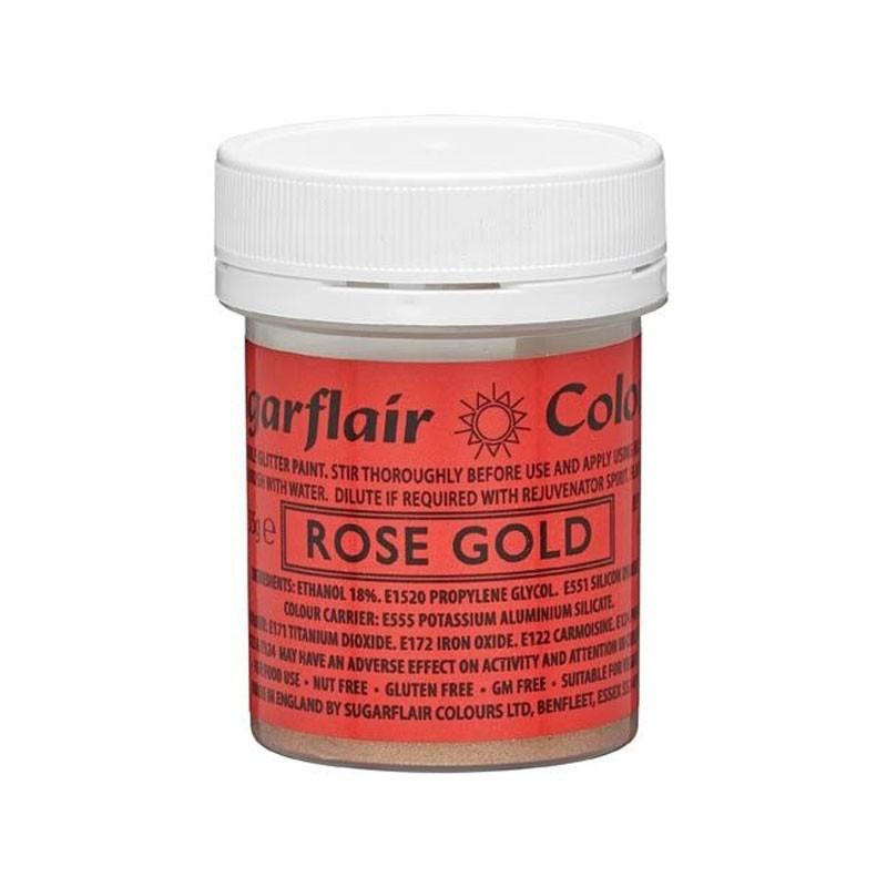 Rose gold glitter paint alimentare