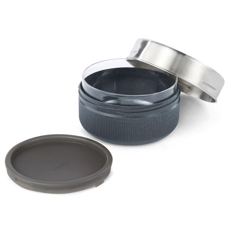 Glass lunch pot portavivande ml 750 black+blum