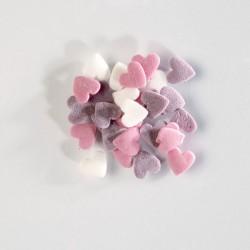 Zuccherini cuori bianco-rosa-lilla ø mm 8 - 100 g