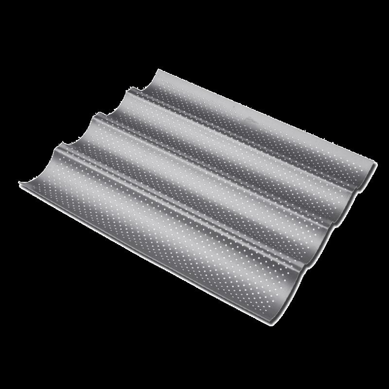 Placca antiaderente microforata x 4 baguette