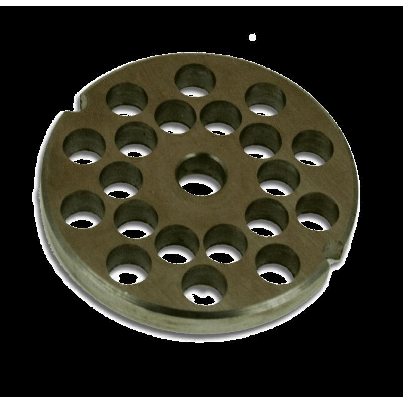 Piastra acciaio inox mm 8 per tritacarne manuale - Piastra in acciaio inox per cucinare ...
