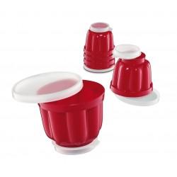 Set 6 forme per budino ml 150 - rosso