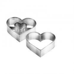 Forme per dolci cuore medio ø cm 5 - 2 pz