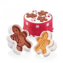 Timbro per biscotti motivo gingerbread man - 2 motivi