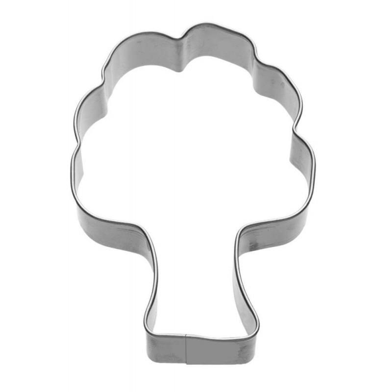 Albero cm 9 formina tagliabiscotti inox c/clip