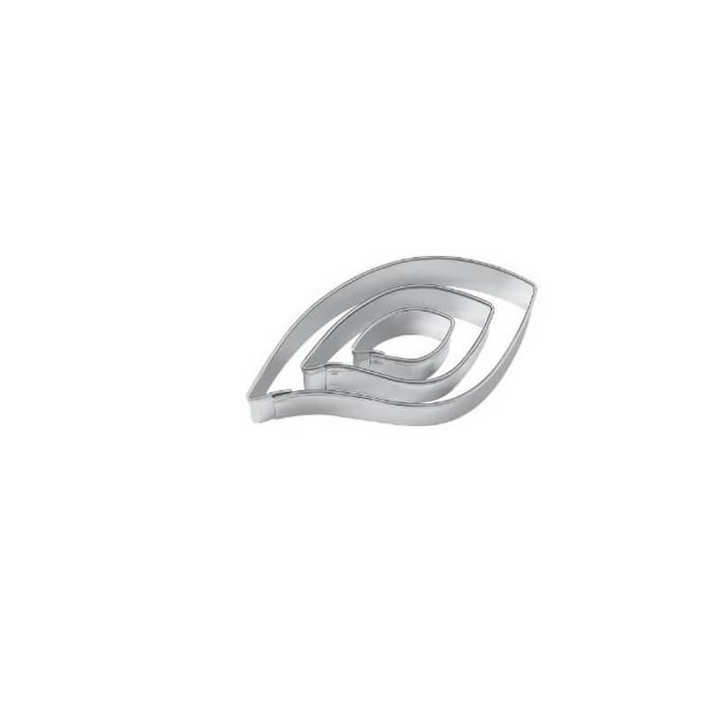 Forme Terrassen III pz Foglia cm 2-4-6 inox Wilton
