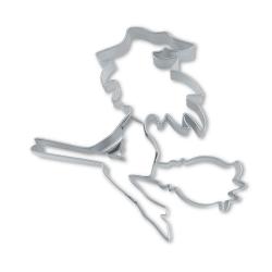 Strega con scopa formina tagliabiscotti inox
