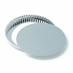 Crostata fondo sollevabile in alluminio - Ø cm 28