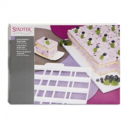 Porzionatore x torte: quadrati 6x6 rettangoli 6x7