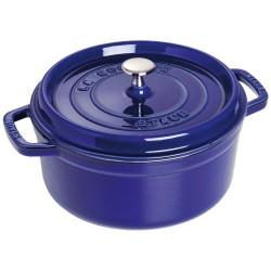 Cocotte in ghisa smaltata blu - ø cm 24 - staub