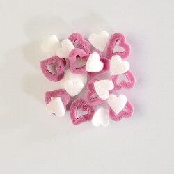 Zuccherini rondò cuori bianchi e rosa ø mm 8-11 - 100 g