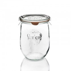Barattolo in vetro per sterilizzare Tulpen corolle Weck 1062 ml