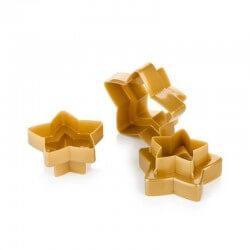 3 tagliabiscotti stella a 5 punte doppi: cm 5-6-7-8-9-10