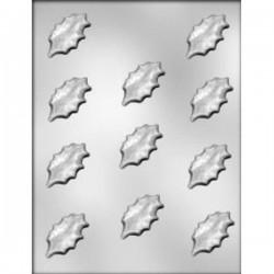 Stampo praline in PC Foglie Agrifoglio 11 impronte