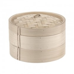 Cestini in bambù cottura a vapore   ø cm 20