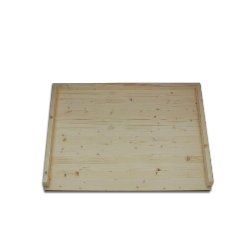 Tavola con sponde in abete lamellare cm. 90 x 64