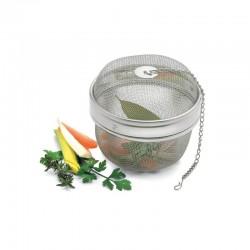 Sfera in rete inox per spezie odori aromi infusi ø mm 85