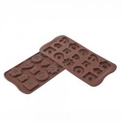 Stampo cioccolato 15 Buttons EasyChoc - Silikomart
