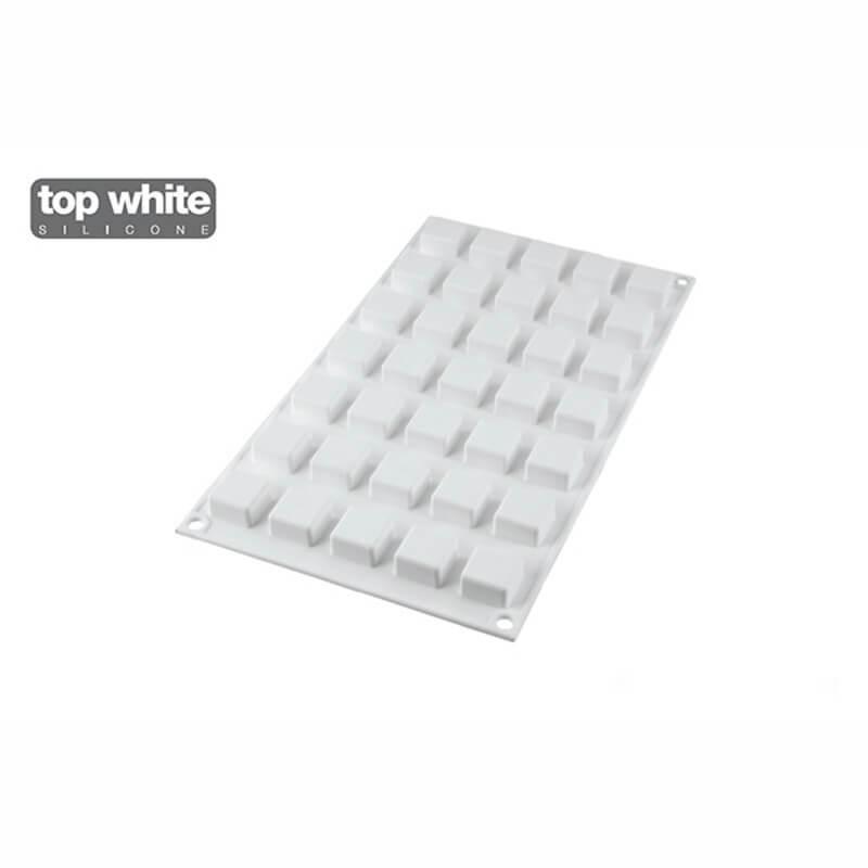Micro Square 5 in silicone 35 cavità Cubo - Silikomart