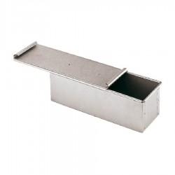 Pane cassetta carrè con coperchio cm 30x10 alluminata