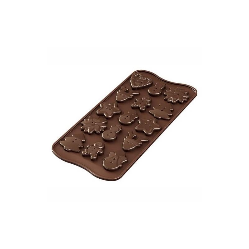 Stampo cioccolato Xmas Buttons EasyChoc Silikomart