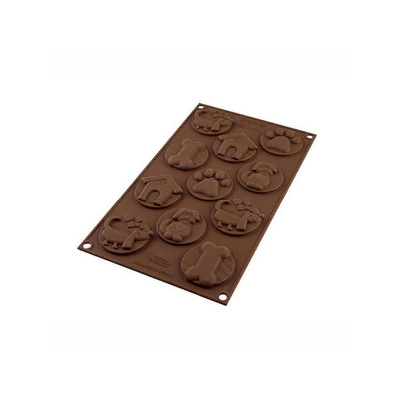 Choco tags Puppy 11 cavità - Silikomart