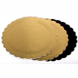 Sotto torta Oro/Nero festonato ø cm 40