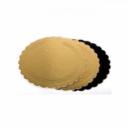 Sotto torta Oro/Nero festonato ø cm 20
