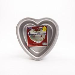 Tortiera in alluminio a cuore ø cm 15 h mm 75