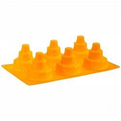 Tortine a 3 piani in silicone ø cm 7 - 6 cavità