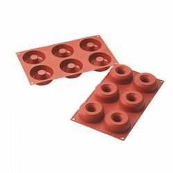 Donuts silicone ø mm 75 - 6 cavità