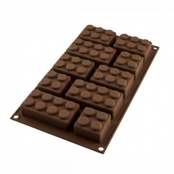 Choco block 10 sagome lego - Silikomart